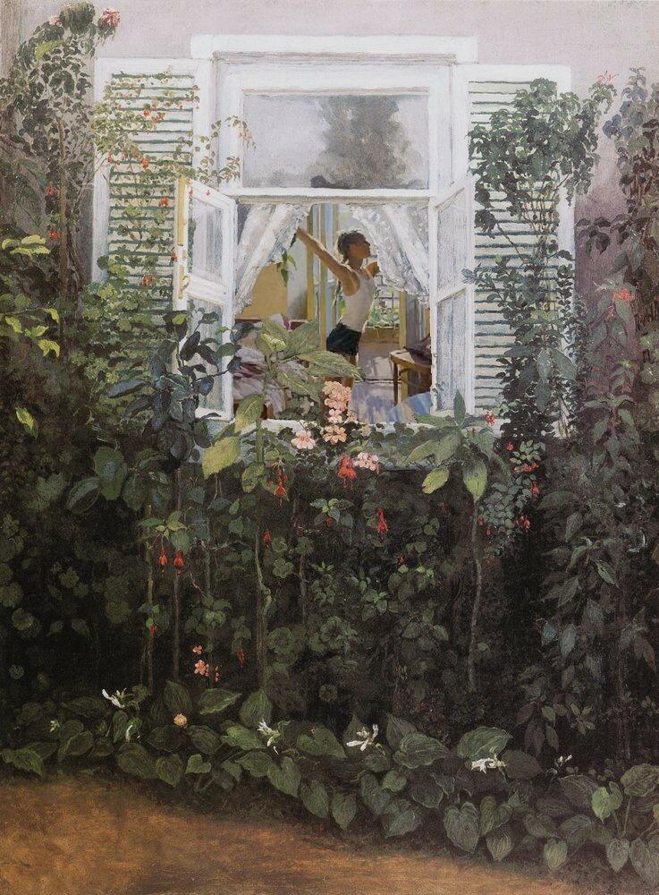 Девочка в окне.